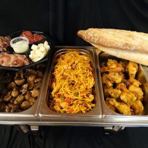 Spaans buffet met pasta